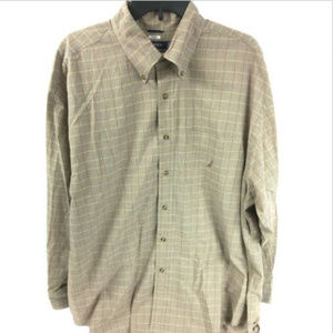 Nautica Shirt Size XL Brown Long Sleeve.